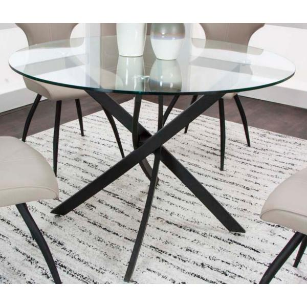 Eclipse 42inch Round Glass Top Dining Table | Star Furnitu