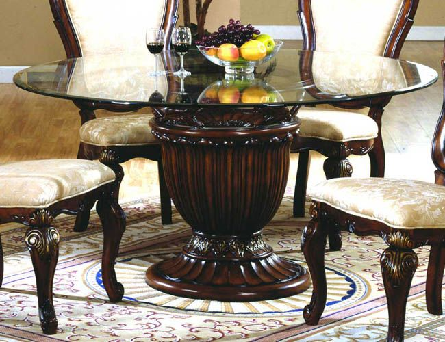 Round Glass Dining Table Top | Round pedestal dining, Round .