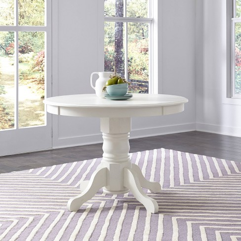 Seaside Lodge Round Pedestal Dining Table White - Home Styles : Targ