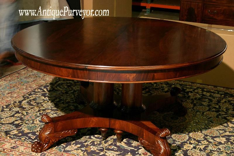Wine Room Tables | ... table-round-mahogany-dining-room-table-with .
