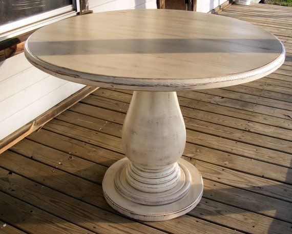 42 inch Round Pedestal Table Huge Tear Drop Pedestal Solid Wood .