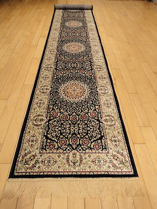 Amazon.com: Silk Persian Navy Area Rugs Narrow 2x8 Navy Hallway .