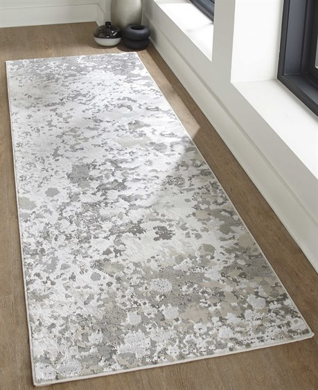 Feizy Rugs Micah Silver / Gray 2'10'' X 7'10'' Runner Rug .