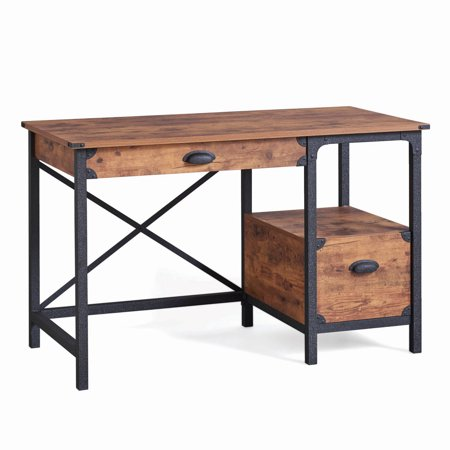 Better Homes & Gardens Rustic Country Desk, Weathered Pine Finish .
