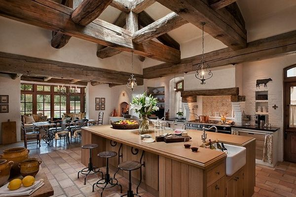 Top 10 Beautiful Rustic Kitchen Interiors For A Warm Cooking .