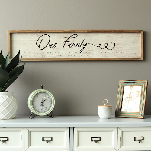 "Stratton Home Decor ""Our Family"" Rustic Wall Dec"