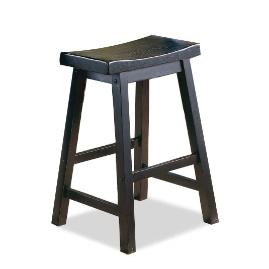 Black and Brown 24 Inch Saddle Counter Height Stool | RC Willey .