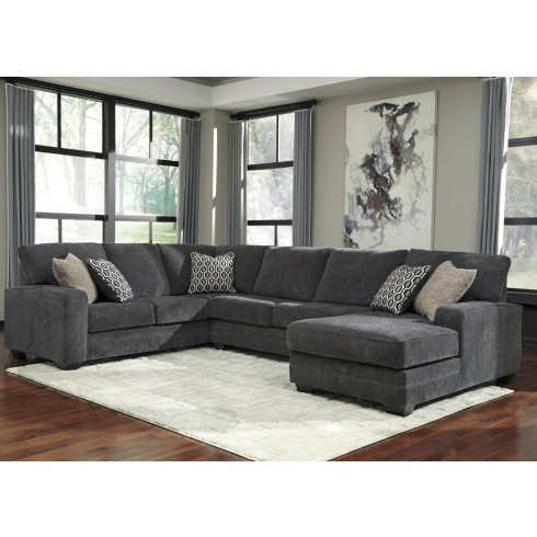 Sale Ashley Furniture Tracling 3 Piece Sectional with RAF Chaise .