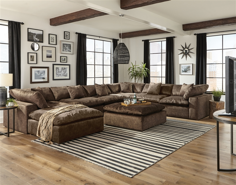 Plush 6 Piece Fabric Sectional by Jackson Furniture - 4446