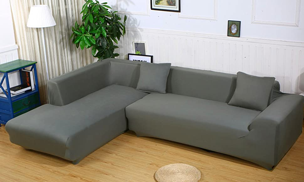 Amazon.com: ELEOPTION Sectional Sofa Slipcover Couch Cover .