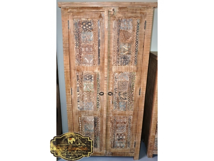 Tall Hand Carved Shabby Chic Wardrobe Cabinet #216589 | Furniture .