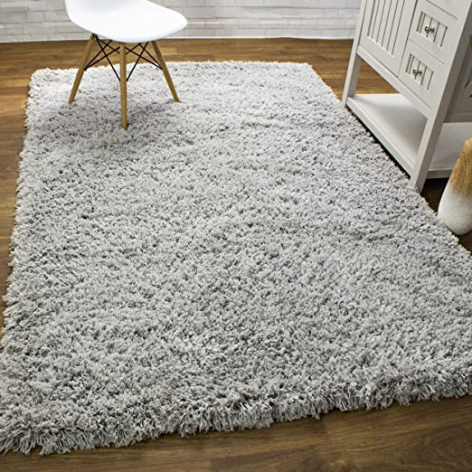 Amazon.com: Super Soft Shag Rug Soft Gray Premium Washable Extra .