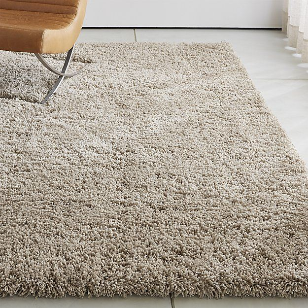 Memphis II Stone Shag Rug 5'x8' + Reviews | Crate and Barrel .