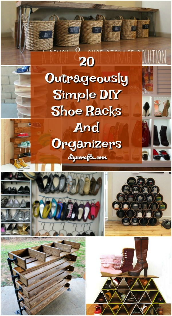 20 Outrageously Simple DIY Shoe Racks And Organizers You'll Want .