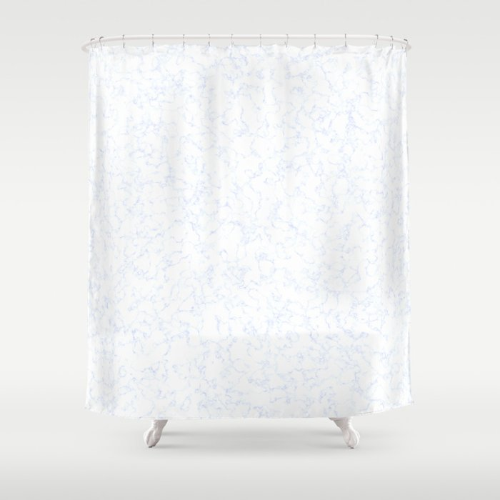 Blue White Marble Texture Shower Curtain by sweepingshadows | Societ