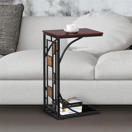 Yaheetech Living Room Sofa Side End Snack Table Tray Stand Rack .