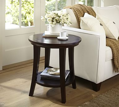 Metropolitan Round Side Table #potterybarn | Round side table .