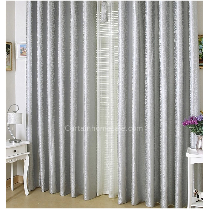 Silver Color Classic Thick Floor Length extra long curtai