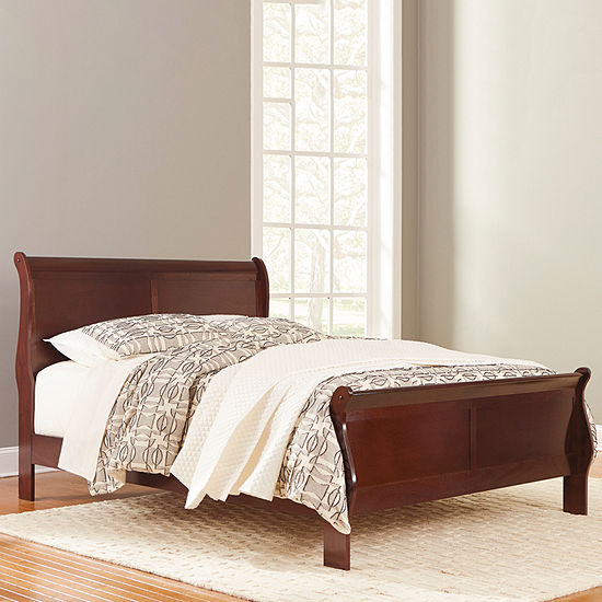 Signature Design by Ashley® Ramsay Sleigh Bed, Color: Dark Brown .