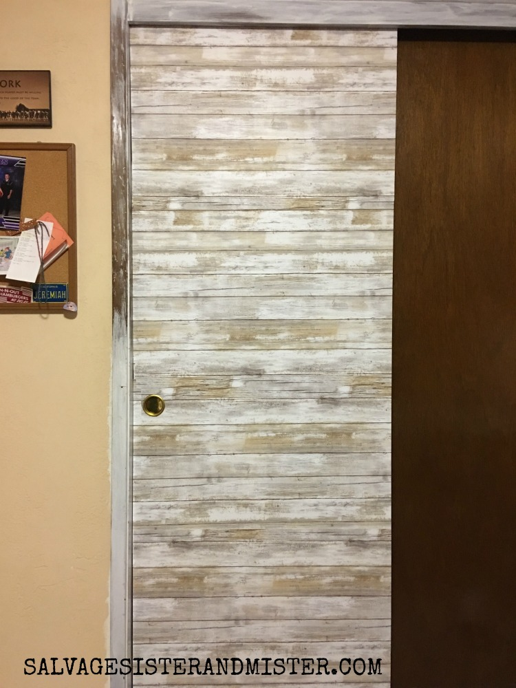 ORC - Bargain Sliding Closet Door Makeover - Salvage Sister and Mist
