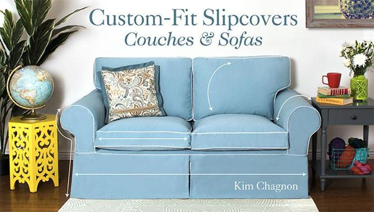 Custom-Fit Slipcovers Sewing Class: Couches & Sofas | Blupri