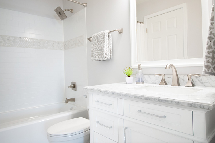 Small Bathroom Renovation with the Delta UPstile Wall Syst