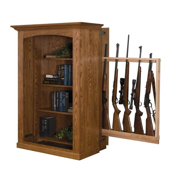 Small Bookcase with Hidden Gun Cabinet from DutchCrafters Ami