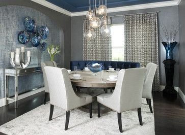 Small Formal Dining Room - not necessarily this shade blue - but .