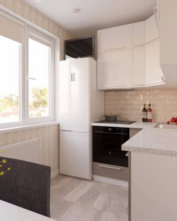 Design of a small kitchen: design ideas on 45 photos - Make Simple .