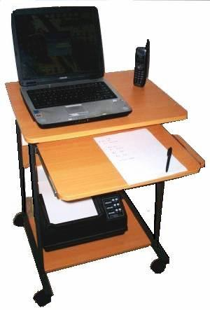 """STS5806 24"""" Mini computer and laptop desk & table with wheels ."""