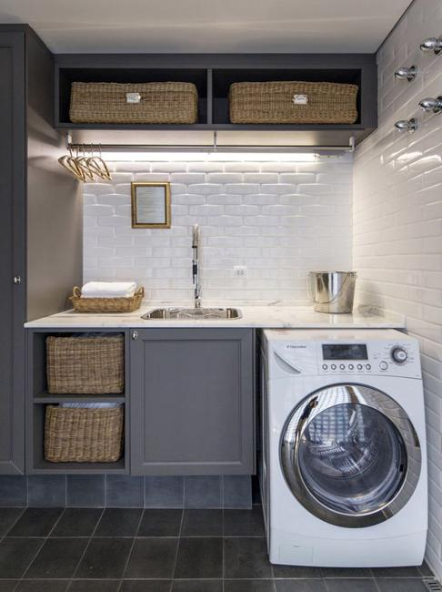 20 Space Saving Ideas for Functional Small Laundry Room Desi