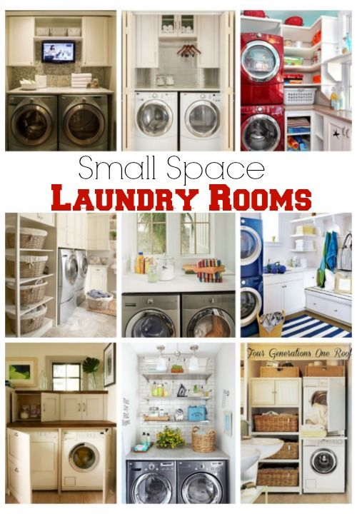 Small Space Laundry Room Ideas | Laundry in bathroom, Laundry room .