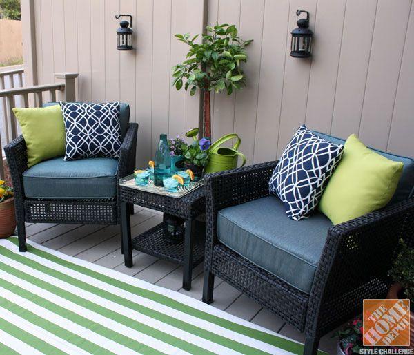 Fresh & Fabulous Front Porch and Patio Ideas | Small deck .
