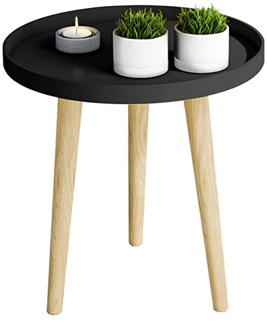 Amazon.com: Nordic Small Round Table, Household Wooden Small .