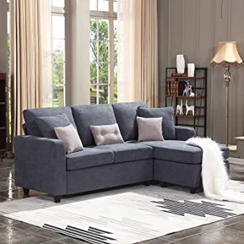Amazon.com: HONBAY Convertible Sectional Sofa Couch, L-Shaped .
