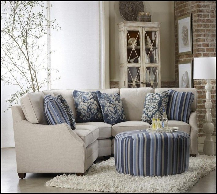 Small Scale Sectional Sofa | Small living room furniture, Small .