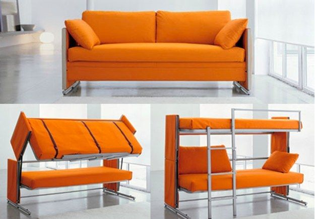 Sofa bunk bed: in 2020   Cool couches, Couch bunk beds, Space .