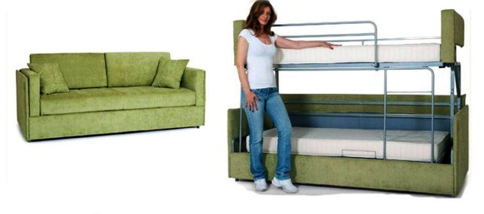 Coupe Sofa Turns into Comfy Bunk Bed in Just 14 Secon