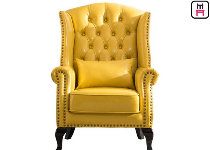 American Style Classical Single Sofa Chair High Back Leather Chair .