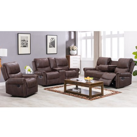 Recliner Sofa Living Room Set Reclining Couch Sofa Chair Leather .