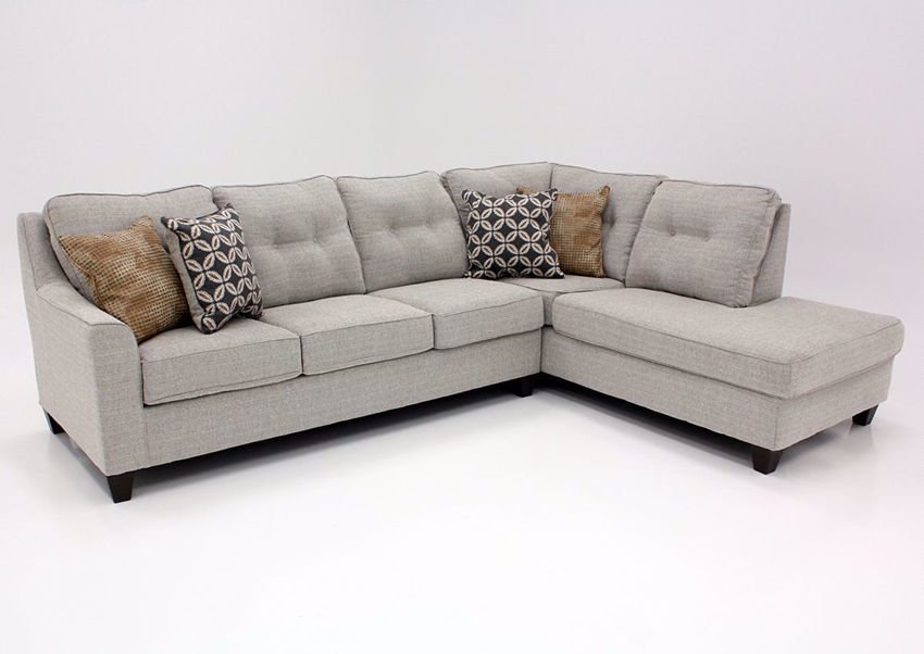 Dante Sectional Sofa With Chaise - Brown Tweed | Home Furniture .