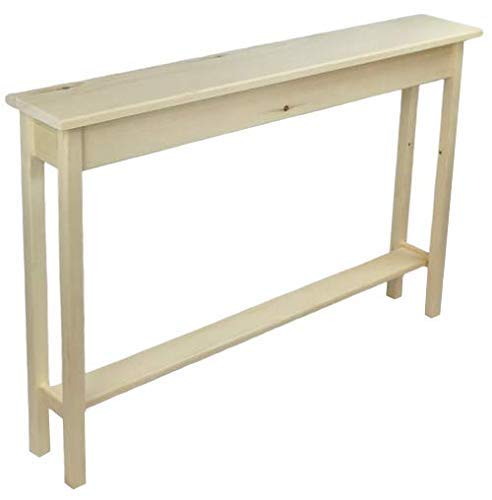 """Amazon.com: 46"""" Unfinished Narrow Console Sofa Table With Bottom ."""