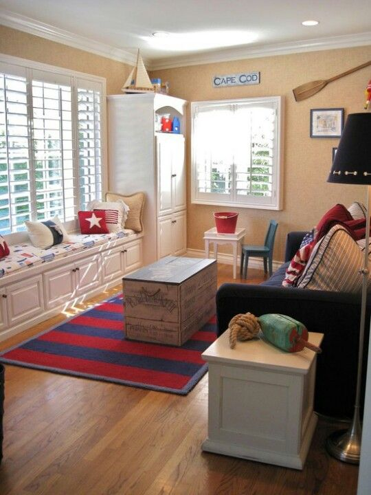 Playroom/guest room idea with sofa bed   Family ro