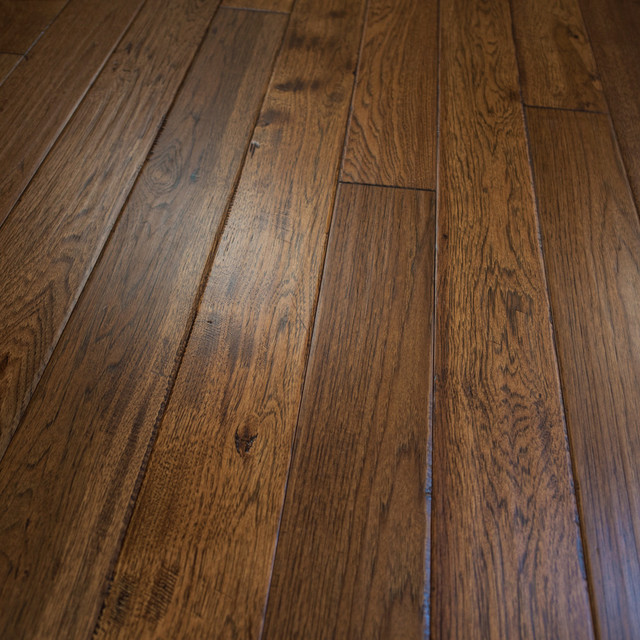 Hickory Hand Scraped Prefinished Solid Wood Flooring, Jackson Hole .