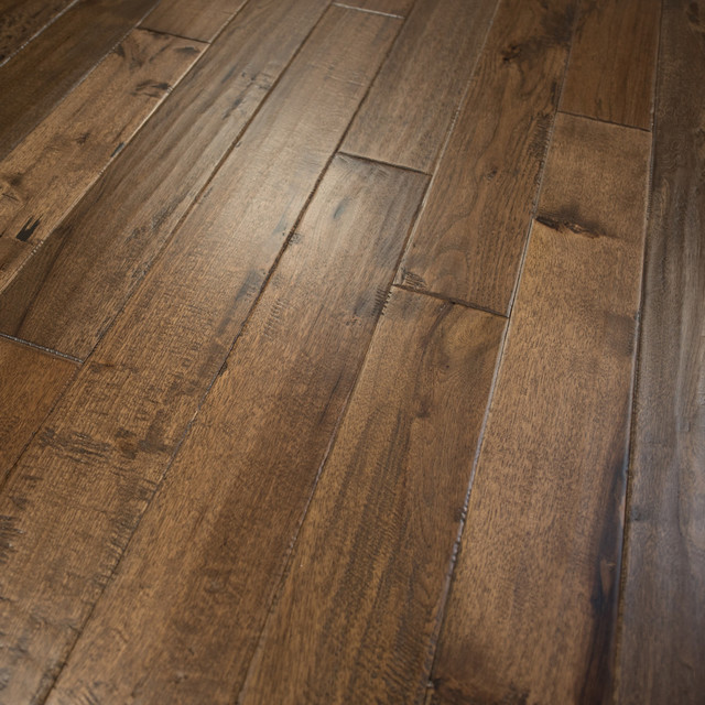 Hickory Hand Scraped Prefinished Solid Wood Flooring, Old West .