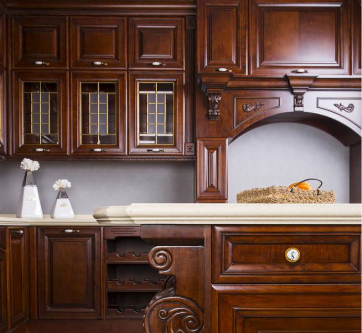 China Custom High End Solid Wood Kitchen Cabinet Manufacturers .