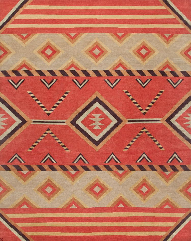 LW18B, Red Stone - Southwestern rugs, Luxury Lodge comes to life .