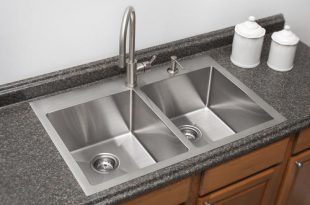 """Franke Dual Mount 33"""" Stainless Steel 2-Hole Double Bowl Kitchen ."""