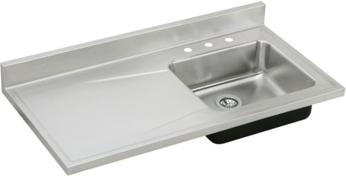 Elkay S4819R3 48 Inch Single Bowl Stainless Steel Sink Top with 18 .