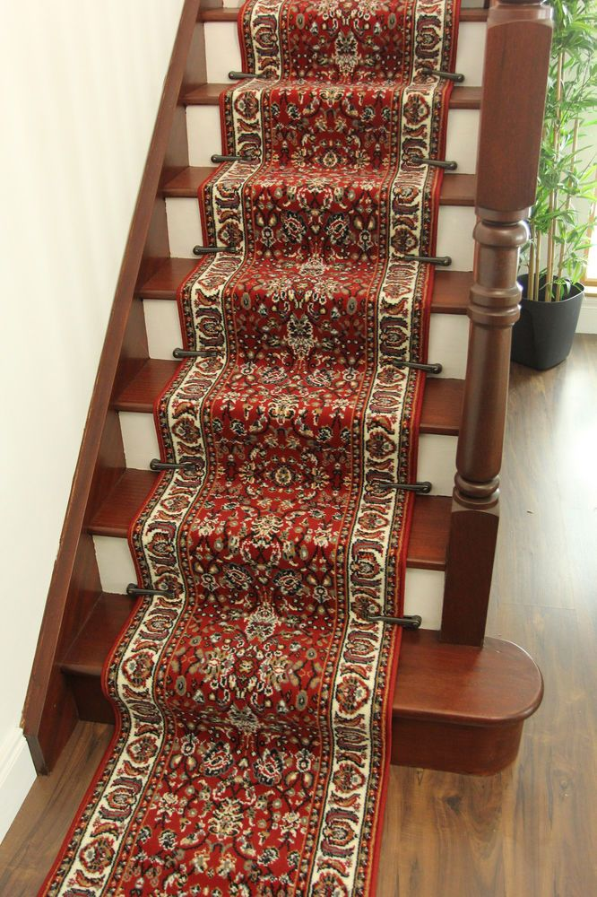 Traditional Red ANY LENGHT Narrow Stair Runner Very Long Oriental .